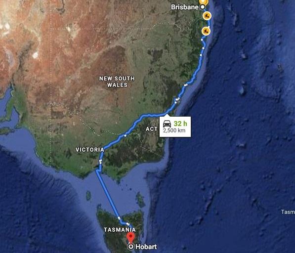 Moving Company Brisbane to Hobart